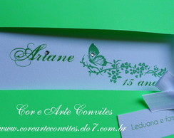 Convite 15 Anos verde