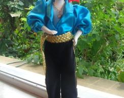 Boneco Cigano Azul