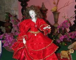 Boneca Cigana Vermelha