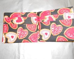 Carteira de origami em tecido cora��es