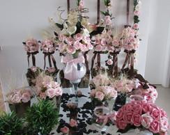 Kit festa rosa rosa & marrom III