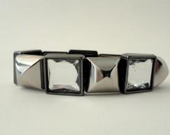 11185- Pulseira Prata Envelhecida