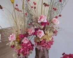 Duo de flores secas rosa I