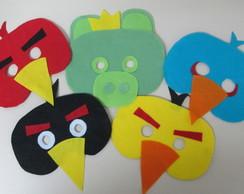M�scaras Angry Birds em feltro