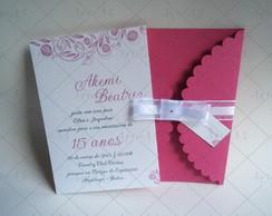 Convite 15 Anos envelope com recorte