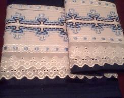 Jogo de toalha vagonite com fitas