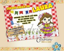 Convite Festa Junina bonequinha