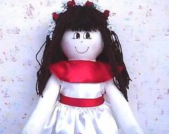 Boneca de pano para daminha Gilmara
