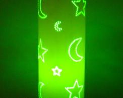 Lumin�ria em PVC Lua e Estrelas