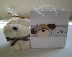 Cachorrinho de toalha com sacola