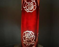 Lumin�ria em PVC Rosa dobrada