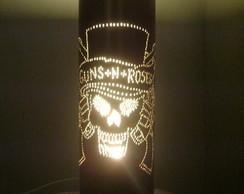 Lumin�ria em PVC Guns N' Roses