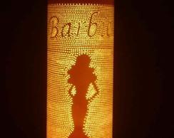 Lumin�ria em PVC Barbie II