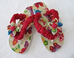 chinelo customizado em tecido