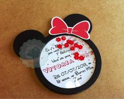 Convite Minnie com paet�s