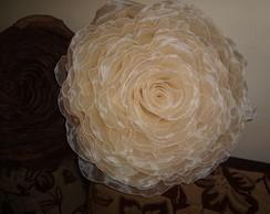 capa para almofada em formato de rosa