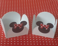 Forminhas Decoradas Minnie  pct c/ 50