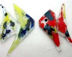 Peixes De Vidro P Trabalhos Decorativos