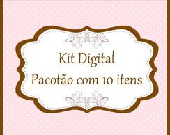 Pacot�o - kit digital com 10 itens