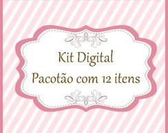 Pacot�o - Kit digital com 12 itens