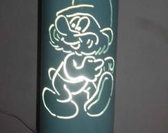 Lumin�ria em PVC Papai smurf.