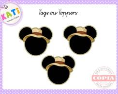 Toppers para Cupcake Mickey Safari