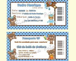 Convite Passaporte Ursinhos
