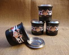 Kit Condimentos 04 Potinhos S/ Suporte