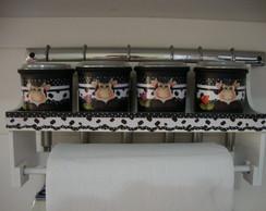 Kit Condimentos 04 Potinhos C/ Suporte