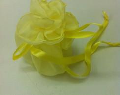 Saquinho multifuncional - amarelo claro