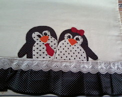 Pano De Prato Casal de Pinguins