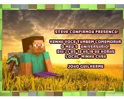 Minecraft convite impresso