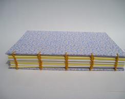 Caderno Flor Roxa e Amarela