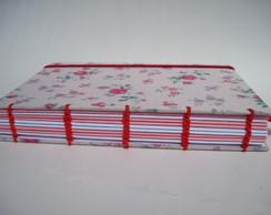 Caderno Artesanal rosa