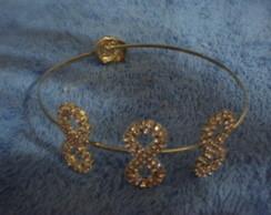 Bracelete De Bra�o Infinito Dourado