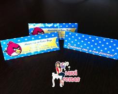 Angry Birds - Convite lapela