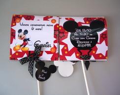 Convite Pirulito Mickey