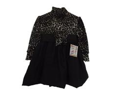 Vestido Infantil Plush oncinha 3010F4
