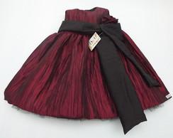 Vestido Infantil Shantung 30110C