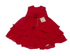 Vestido Infantil Chiffon vermelho 301152