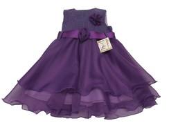 Vestido Infantil Uva 30117D