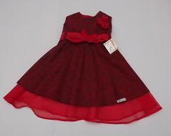 Vestido Festa Infantil Vermelho 30147D