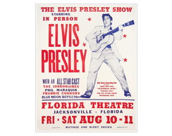Placa MDF Retr�- The Elvis Show - 69