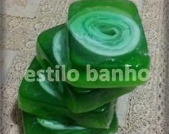 Sabonete em Barra Ma�� Verde e Hortel�