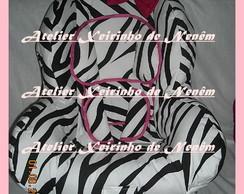 Capa para cadeira de auto zebra +la�o