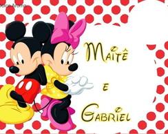 Envelope Personalizado Minnie e Mickey