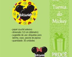 Festa Turma Do Mickey - etiqueta redonda