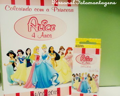 Lembran�a Kit de Colorir Princesas