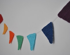 7 Bandeirinhas de Croch� - Frete Gr�tis
