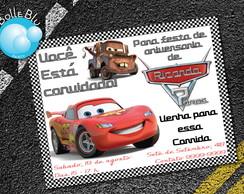 Carros Convite Digital Disney Mcqueen